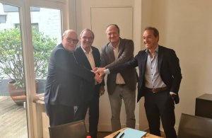 v.l.n.r.: Rudolf Scherpereel, Dirk Scherpereel, Rudi Van Laer, Hans Scherpereel.
