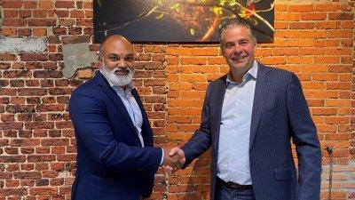 Vijah Lohitsa (Hexaware Technologies Belgium) en Nico De Cleen (Passwerk/TRplus )