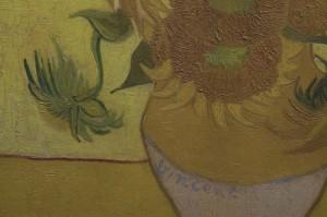 Van Gogh De Zonnebloemen detail