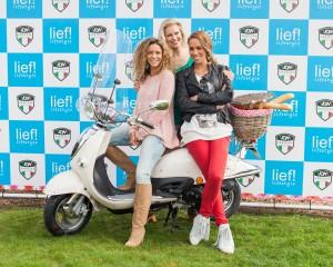 Fajah Lourens, Glennis Grace en Marit van Bohemen aanwezig bij lancering lief! scooter