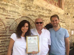Julita Fasseva, Walter Van Pottelberge en Dimitri Mestdag met EFFE erkenning