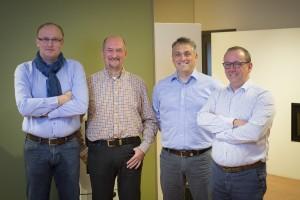 Het management van Dovre met v.l.n.r. Rudy Sterkens, Herman Van Loon, Marcel Roovers en Tom Gehem