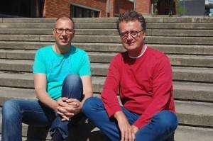 Luc Vets (links) en Nils Van Uffelen.