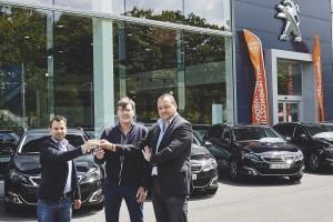 V.l.n.r.: Wim Bosch (Park Motors), Peter Bertels en Francis Adams (beiden The Concept Group).