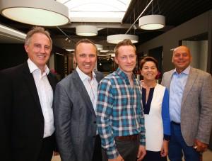 V.l.n.r.: Patrick Steylaerts, Peter Steylaerts, Davy Van Goethem, Anneke Van Dijck, Kamiel Troubleyn.
