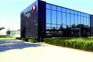 Cartamundi HQ Turnhout building entrance