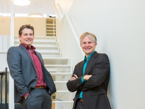 Mike Celis (links) en Michal Teunkens.