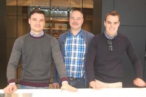 Vlnr: Tom, Paul en Nick Claes.