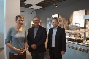 Vlnr: Liesbeth Plingers (AZ Herentals), Jan Van Eyck (Groep Van Eyck) en Gunther Simons (Veresto).