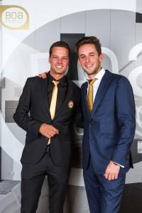 Zaakvoerder Roman Willems (links) en Sven Van Waelderen, een goede vriend van Roman en adviseur Audi bij Autobedrijf Deckx-Team.