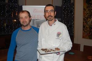 Nikolaas Viaene van Little Food (links) en chocolatier Dave Van Luyck.