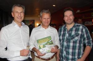 Commercieel directeur Bert Lenaerts, Michaël Joris en Stefan Vleugels.