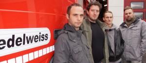 Vlnr: Roman Lesley, Lambert Laurens, Roos Marnix en Van der Horst Marvin.