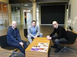 Vlnr: Bjorn Monnens (CTO), Patrick Hellemans (CEO) en Kurt Hardy (COO).