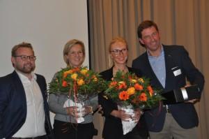 Vlnr: Frederick Jonckheere, Vicky Nolf, Charlotte Luyten en Fons Luyten.