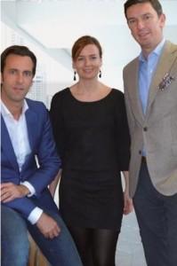 Vlnr: Frédéric Robberechts, Ilke Van Litsenborg en Roel Druyts.