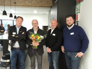 Vlnr: Peter Janssen, Jan Robrechts, Wim en Jan Peeters.