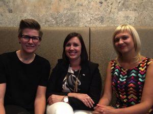Vlnr: Caroline Coolen, Nadja Van Mechelen en An Belmans.