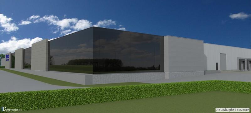 Een visualisatie van het nieuwe gebouw in Lummen.