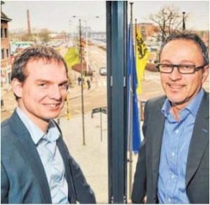 Wout Van Impe (links) en Erik Colemonts van Mercuri Urval.