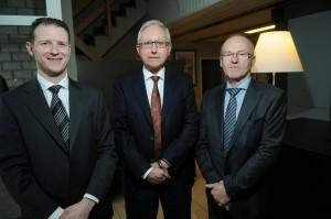 Stijn Verjans, Roland Reynders en Georges Vanbilsen.