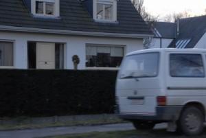 witte bestelwagen villa
