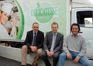 In beter tijden: Erik Coenegrachts (voormalig Account Manager), Geert Spapen (General Manager) en Tommy Goukens (Operational Manager).
