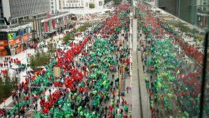 betoging vakbond